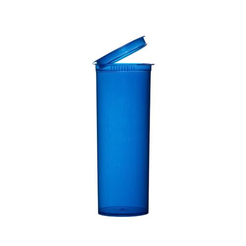 60 Dram Aqua Blue Child Resistant Pop-Top Bottles, 75 pcs