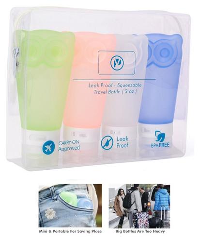 Travel Bottles Leak Proof Travel Toiletry Bottles set of 4 pack
