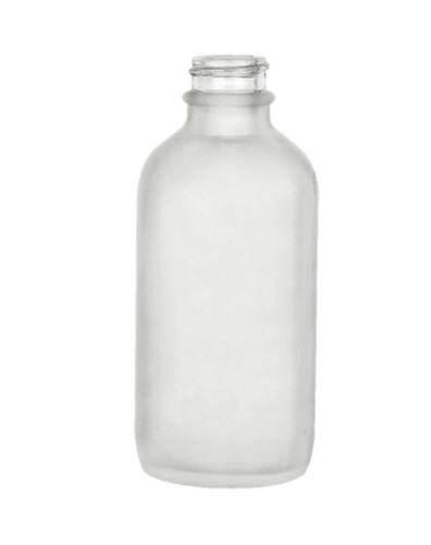 4 Oz Frosted Glass Bottle with 22-400 Neck Finish Case of 128