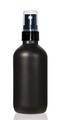 4 Oz Matt Black Glass Bottle w/ Smooth Black Fine Mist Sprayer