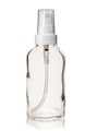 2 oz CLEAR Glass Bottle - w/ White Treatment Pump