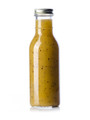 12 oz clear glass sauce bottle with 38-400 neck finish - Case of 96 (With Silver Lids)