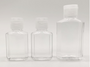 2 oz PET square squeeze bottle with flip cap perfect for Hand Sanitizers - Pack of 1040