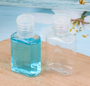 1 oz square squeeze bottle with flip cap perfect for Hand Sanitizers - Pack of 1300