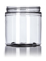 8 oz clear PET single wall jar with 70-400 neck finish w/ Plastic Lined Caps-Pack of 6