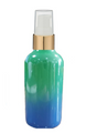 1 Oz Sage Green and Blue Multi-fade Bottle w/ White-Matte Gold Treatment Pump