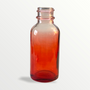 1 oz Red-shaded clear glass bottle - Case of 180 (