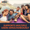 One of the best things about a KING cellular booster bundle is that it supports multiple simultaneous users across different networks. This cell phone antenna booster allows you to share faster data and clearer calls with friends and family no matter where you are.