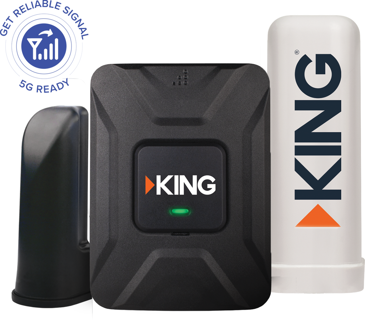 KING Cell Phone Signal Booster for RV, Truck, Home or Car - Cellular Repeater for Verizon, AT&T, Sprint, T-Mobile, All Carriers