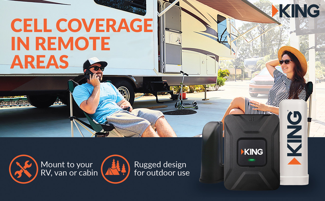 Our signal boosters for cell phones are trusted by first responders nationwide, with clearer voice and data in areas with poor coverage. KING's rugged design means you can use it as a cell signal booster for home or mount it to your van for one of the best RV cell phone boosters on the market.