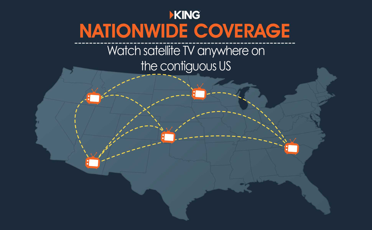 The DISH satellite antenna allows you to watch your favorite programming anywhere in the contiguous United States. Please note that if you're in the upper northeast, you will require a Wally receiver to tune into the Eastern Arc. While the KING DISH Tailgater Pro is the ideal portable satellite TV solution, it can only lock onto a signal while stationary.