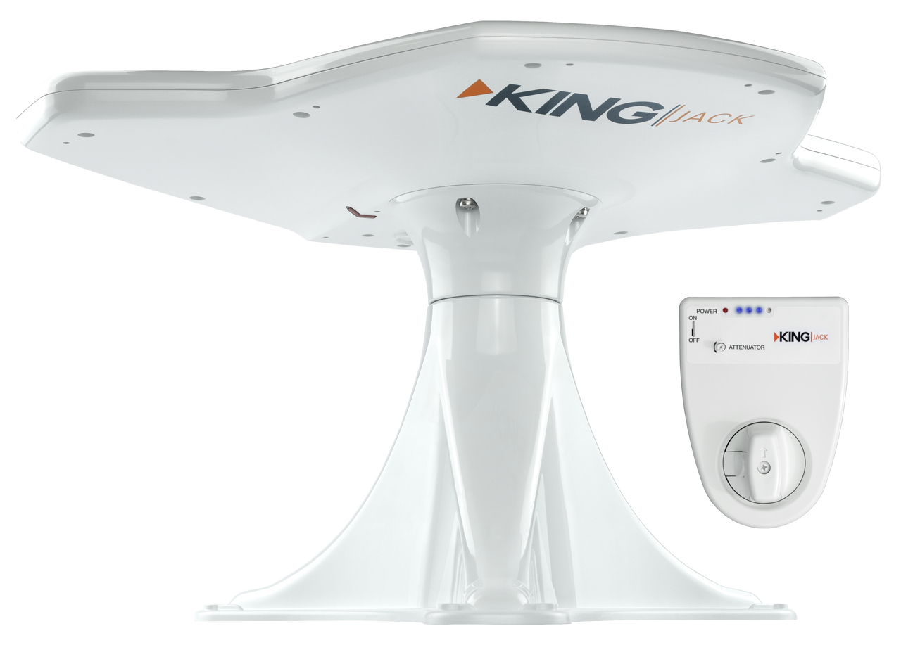KING Jack™ Directional Over-the-Air Antenna with Mount & Built-in Signal Meter