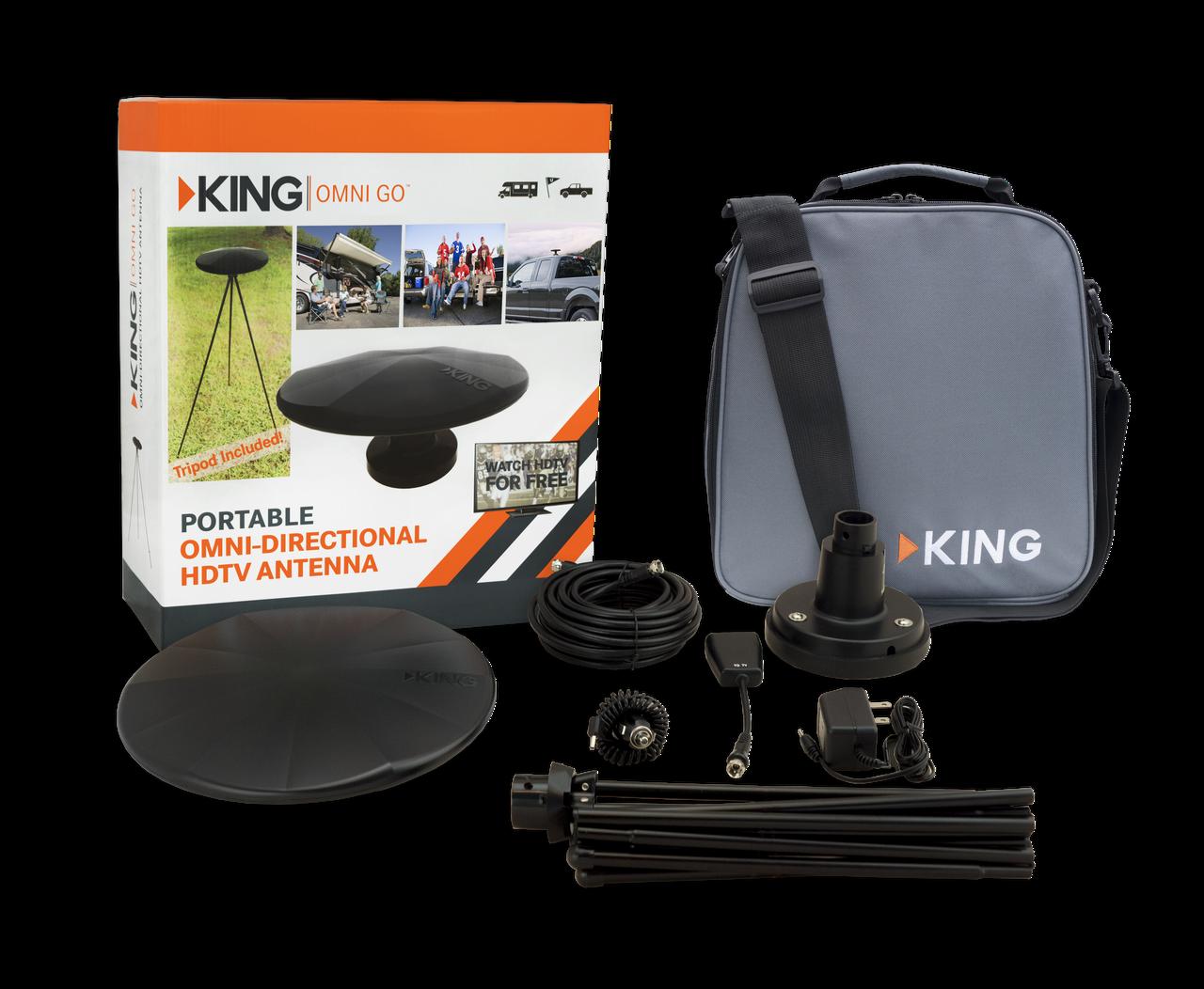 KING OmniGo™ - Factory Refurbished - Portable OmniDirectional OTA HDTV Antenna