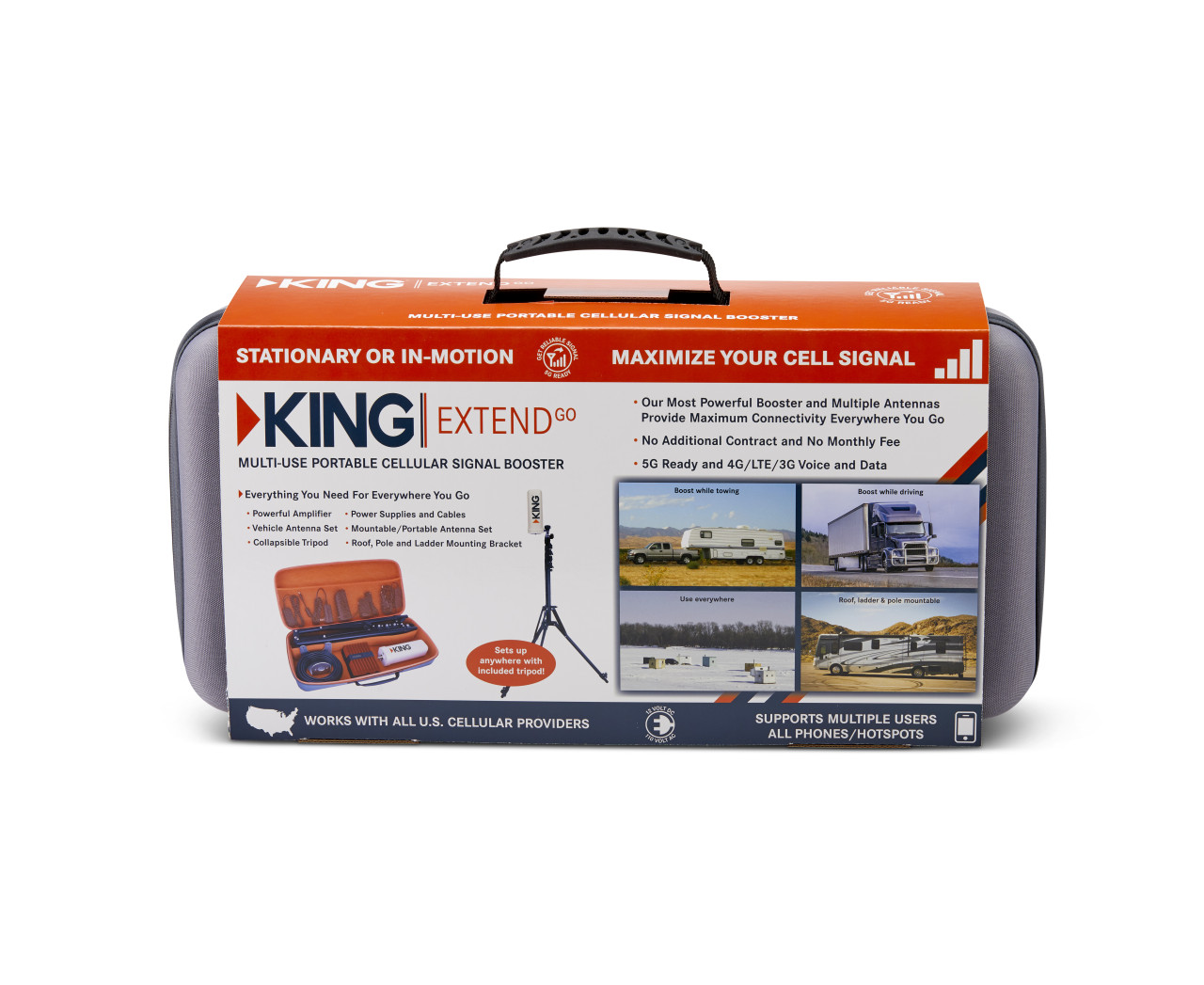 KING Extend™ Go - Multi-use Portable Cell Signal Booster
