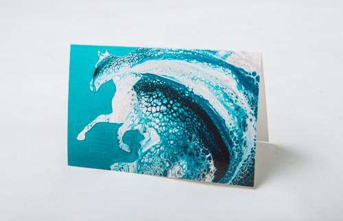 Ocean Horse Art Card