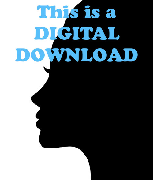 FREE Female Face Silhouette Digital Download