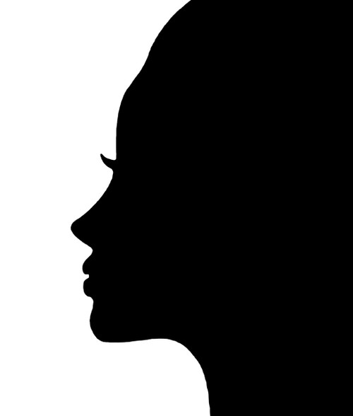 Female Face Silhouette Vinyl Decal