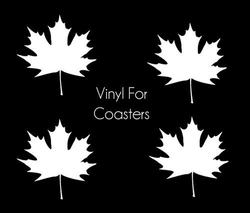 Maple Leaf Vinyl Sticker for Resin Coasters (Set of 4)
