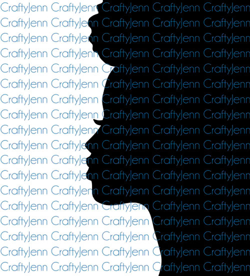 African-American Female Face Silhouette Vinyl Decal