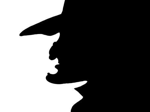 Witch Silhouette Vinyl Decal