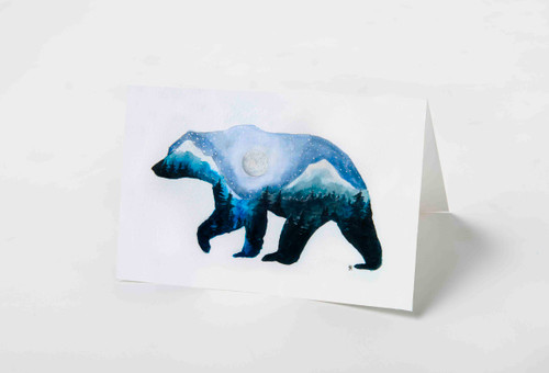 Mountain Bear Art Card