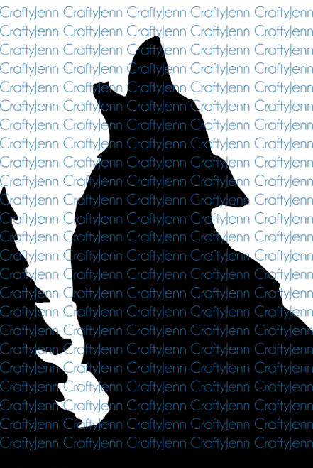 Howling Wolf with Tree Silhouette Vinyl Decal