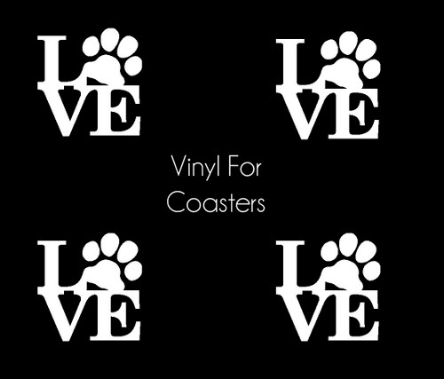 Pet Love Vinyl Application for Resin Coasters (Set of 4)