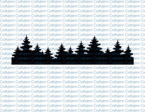 Trees for Tumbler Silhouette Printable Digital Download