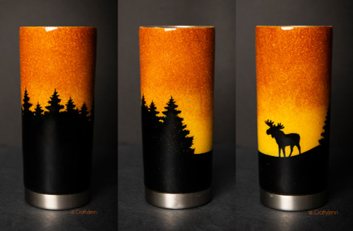 Sunset with Trees & Moose 20oz Tumbler