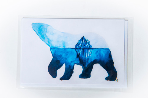 Polar Bear Art Card