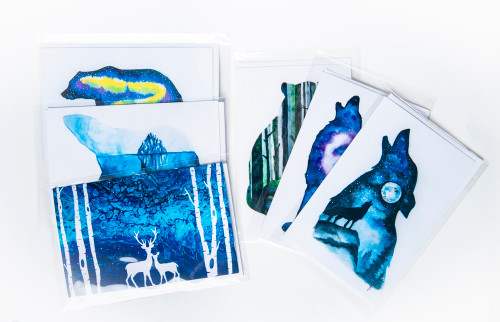 Variety Pack set of 5 Art Cards