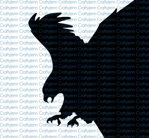 American Eagle Silhouette Vinyl Decal