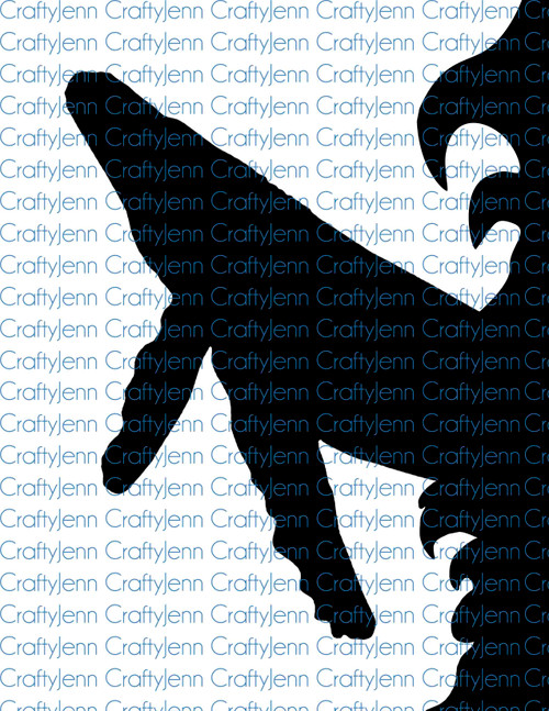 Whale Silhouette Vinyl Decal