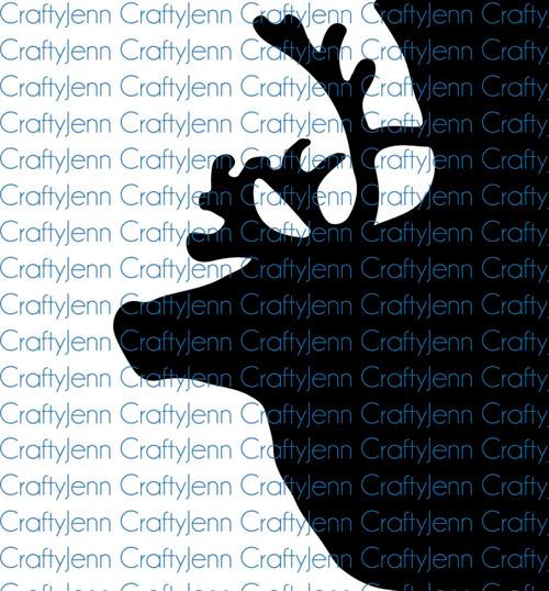 Reindeer Silhouette Vinyl Decal