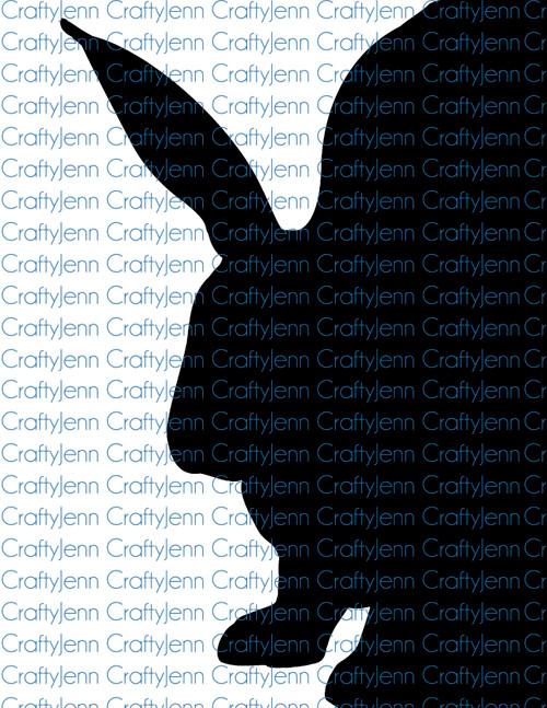 Bunny Silhouette Vinyl Decal