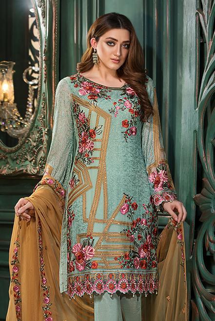 Ramsha Embroidered Chiffon  Vol 13  F-1312