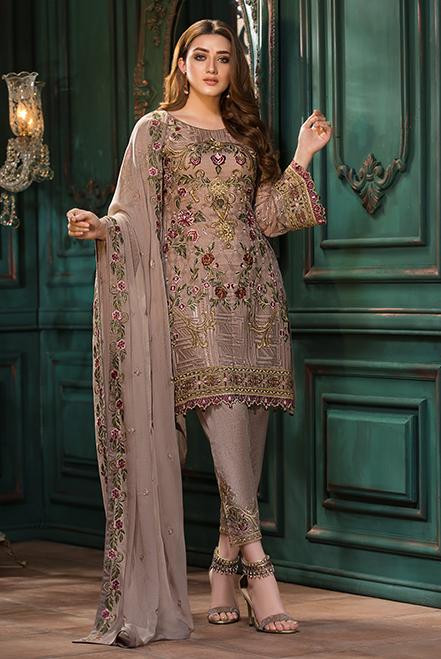 Ramsha Embroidered Chiffon  Vol 13  F-1309