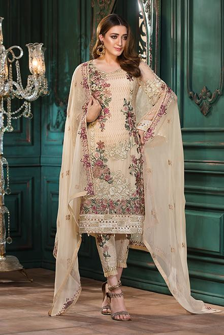 Ramsha Embroidered Chiffon  Vol 13  F-1308