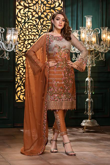Ramsha Embroidered Chiffon  Vol 13  F-1307