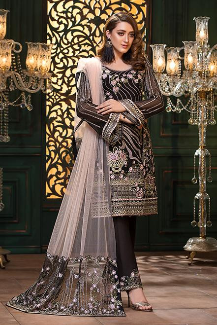 Ramsha Embroidered Chiffon  Vol 13  F-1304