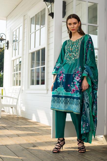 Sahil Embroidered Lawn Vol-02  ZS-03B