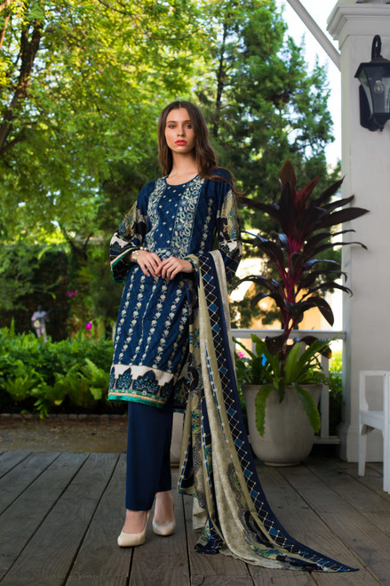 Sahil Embroidered Lawn Vol-02  ZS-02A