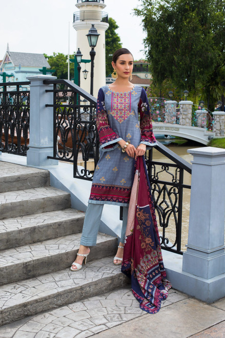 Sahil Embroidered Lawn Vol-02  ZS-01A