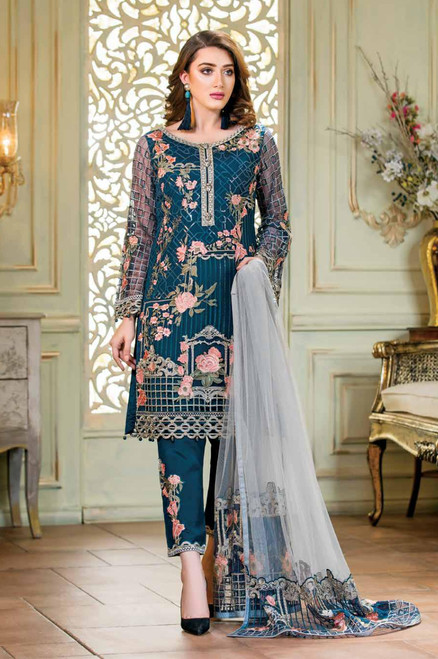 Ramsha Embroidered Chiffon Vol 14 F-1401