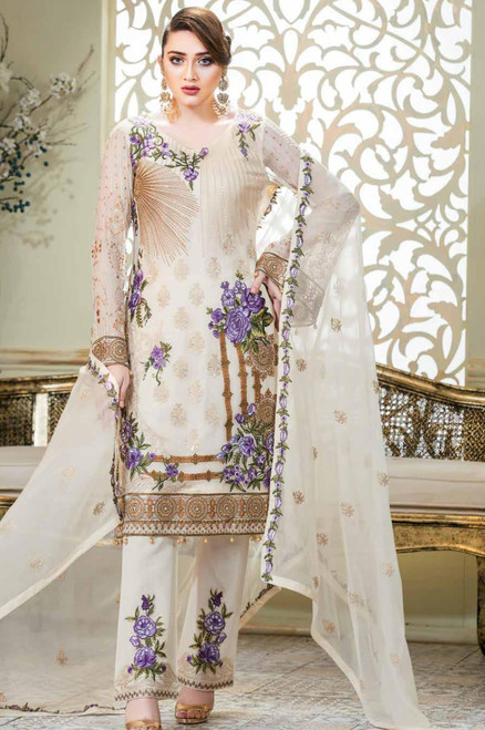 Ramsha Embroidered Chiffon Vol 14 F-1402