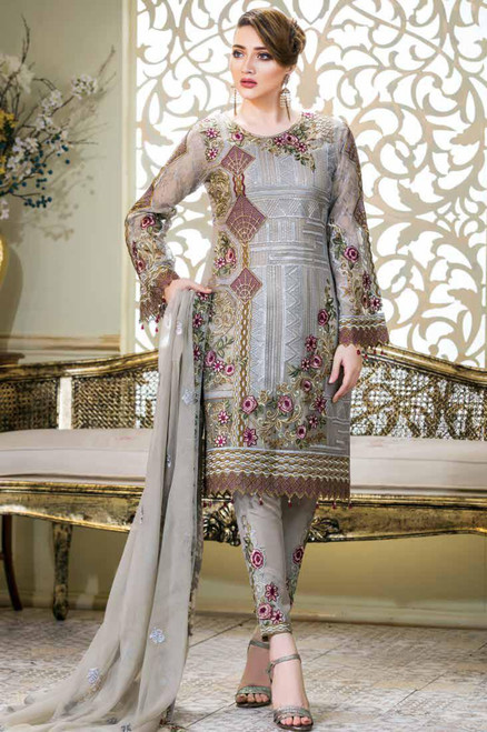 Ramsha Embroidered Chiffon Vol 14 F-1411