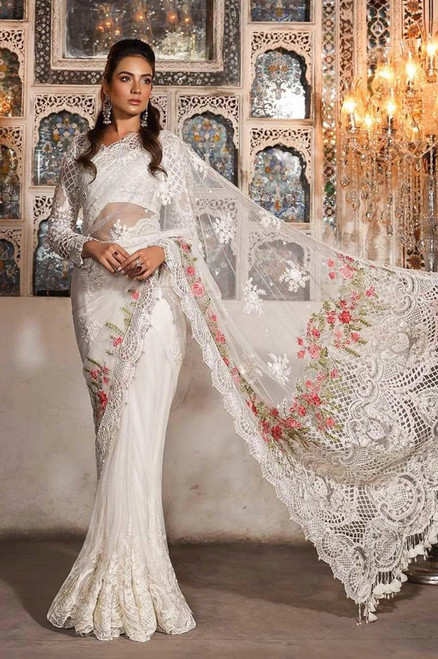Maria B Mbroidered Saree MBD 03