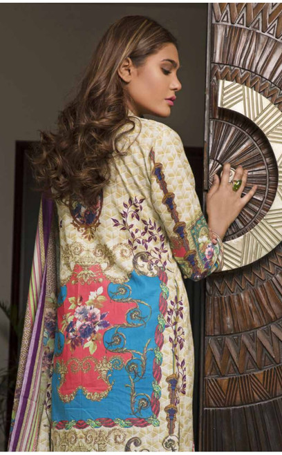 Rangreza Embroidered Lawn  REL-04A