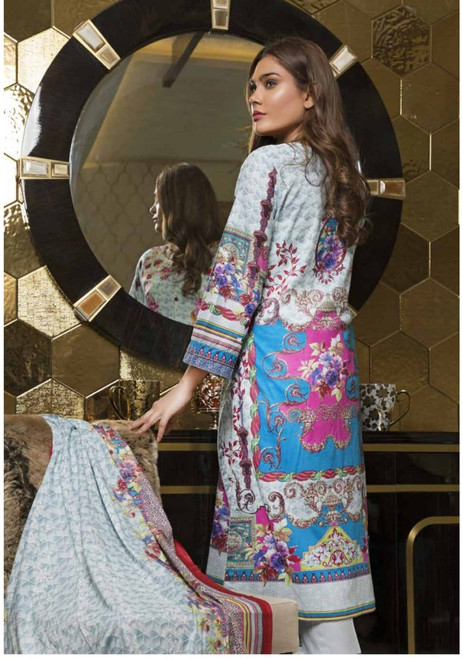 Rangreza Embroidered Lawn  REL-04B