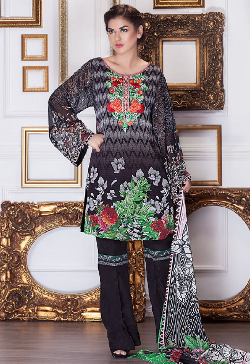 Motifz Embroidered Chiffon MDC-26